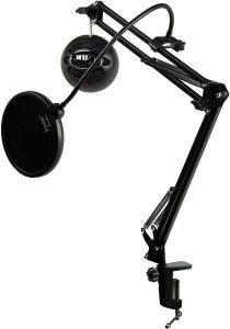 Blue Microphones Snowball iCE Studio Boom Arm and Pop Filter