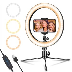 10-inch LED Ring Light with Tripod Stand