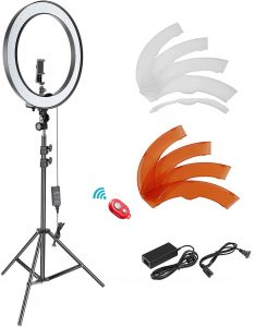 18-inch SMD LED Ring Light with 78.7-inch Light Stand