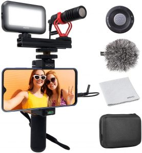 V1 Complete Vlogging Kit with Grip by Movo