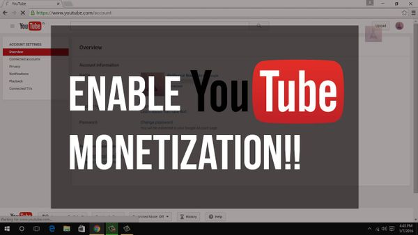 How To Activate YouTube Channel Monetization